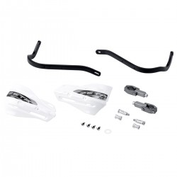 ZETA Aluminiowe osłony dłoni / handbary czarne 28.6mm + szalki XC białe - komplet