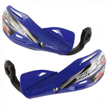 ZETA Handbary IMPACT X3 szalki/listki osłony dłoni niebieskie komplet MX ENDURO