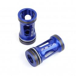 ZETA Aluminiowe tłoczki amortyzatorów / lag przedniego zawieszenia KAYABA LT otwarte