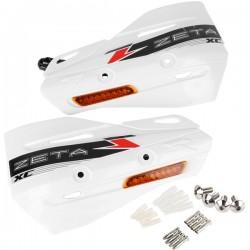 ZETA Szalki XC z kierunkowskazmi LED (pomarańcz) do osłon dłoni białe komplet