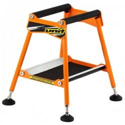 UNIT Stojak z regulacją pod silnik enduro cross taboret stołek pomarańczowy