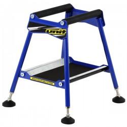 UNIT Stojak z regulacją pod silnik enduro cross taboret stołek niebieski