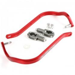 ZETA Aluminiowe osłony dłoni / handbary czerwone 22.2mm